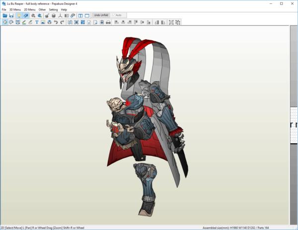 Pepakura Template Overwatch Lu Bu Reaper