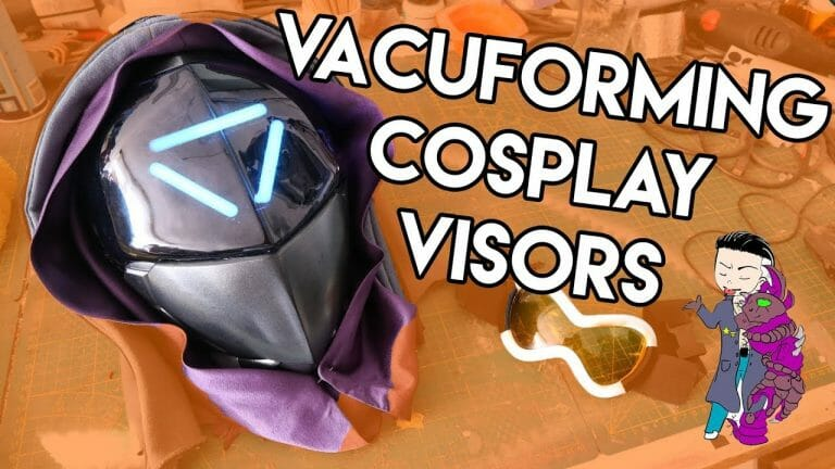 YouTube Vacuforming Cosplay Visors Tutorial